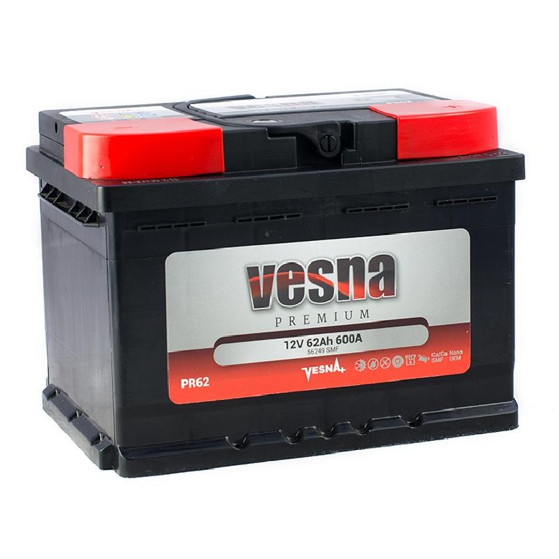 Купить Аккумулятор Vesna Premium 62 Ah (0) 600A R+