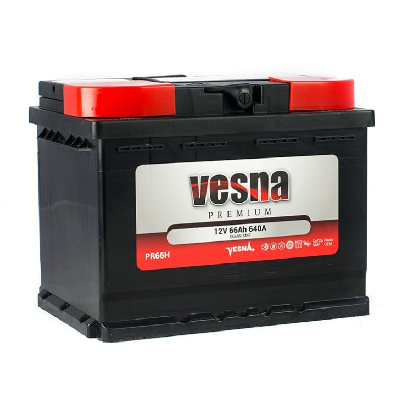 Купить Аккумулятор Vesna Premium 66 Ah (0) 640 A R+