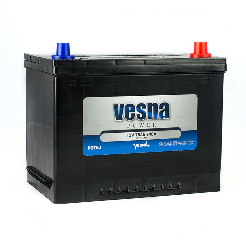 Купить Аккумулятор Vesna Power 75 Ah (0) Asia 740A