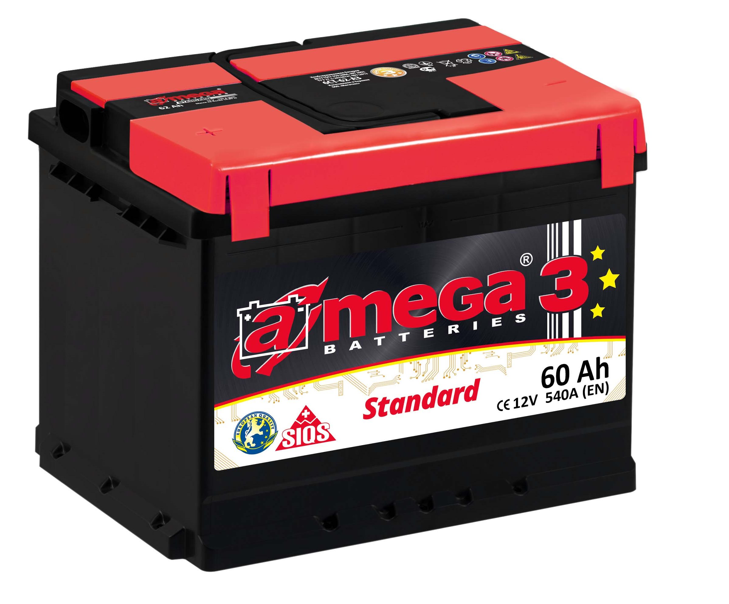 Купить Аккумулятор A-MEGA Standard 60 Ah (0) 540 A