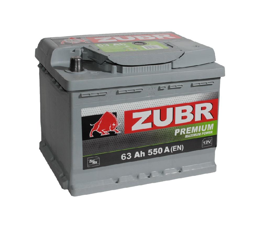 Купить Аккумулятор Zubr Premium 63 Ah (0) 550 A