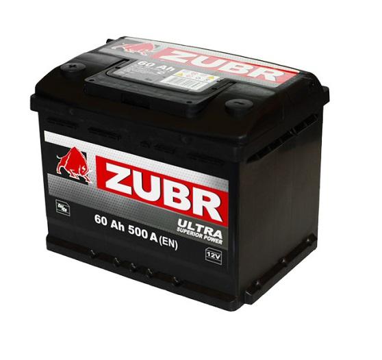 Купить Аккумулятор Zubr Ultra 60 Ah (0) 500 A