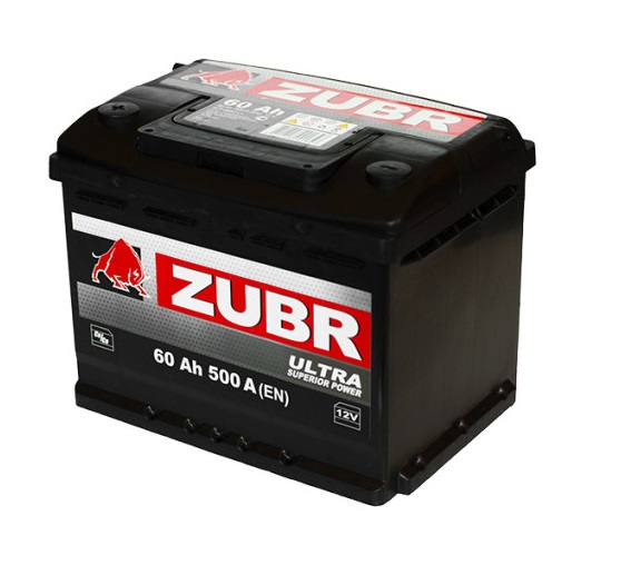 Купить Аккумулятор Zubr Ultra 60 Ah (1) 500 A L+