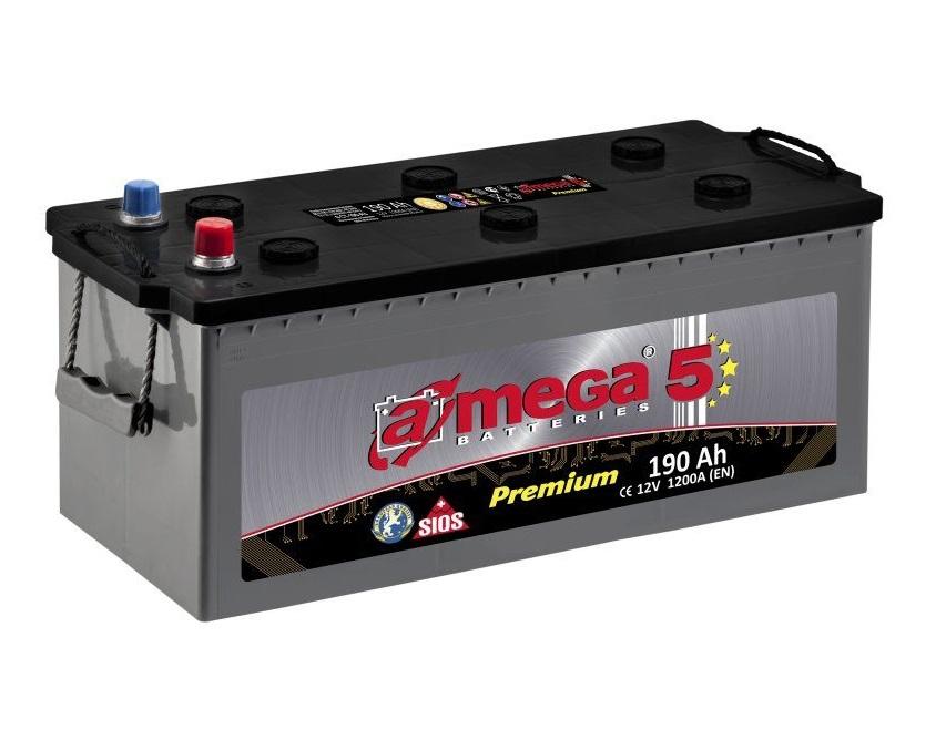 Купить Аккумулятор A-MEGA Premium 190 Ah (3) 1200 A
