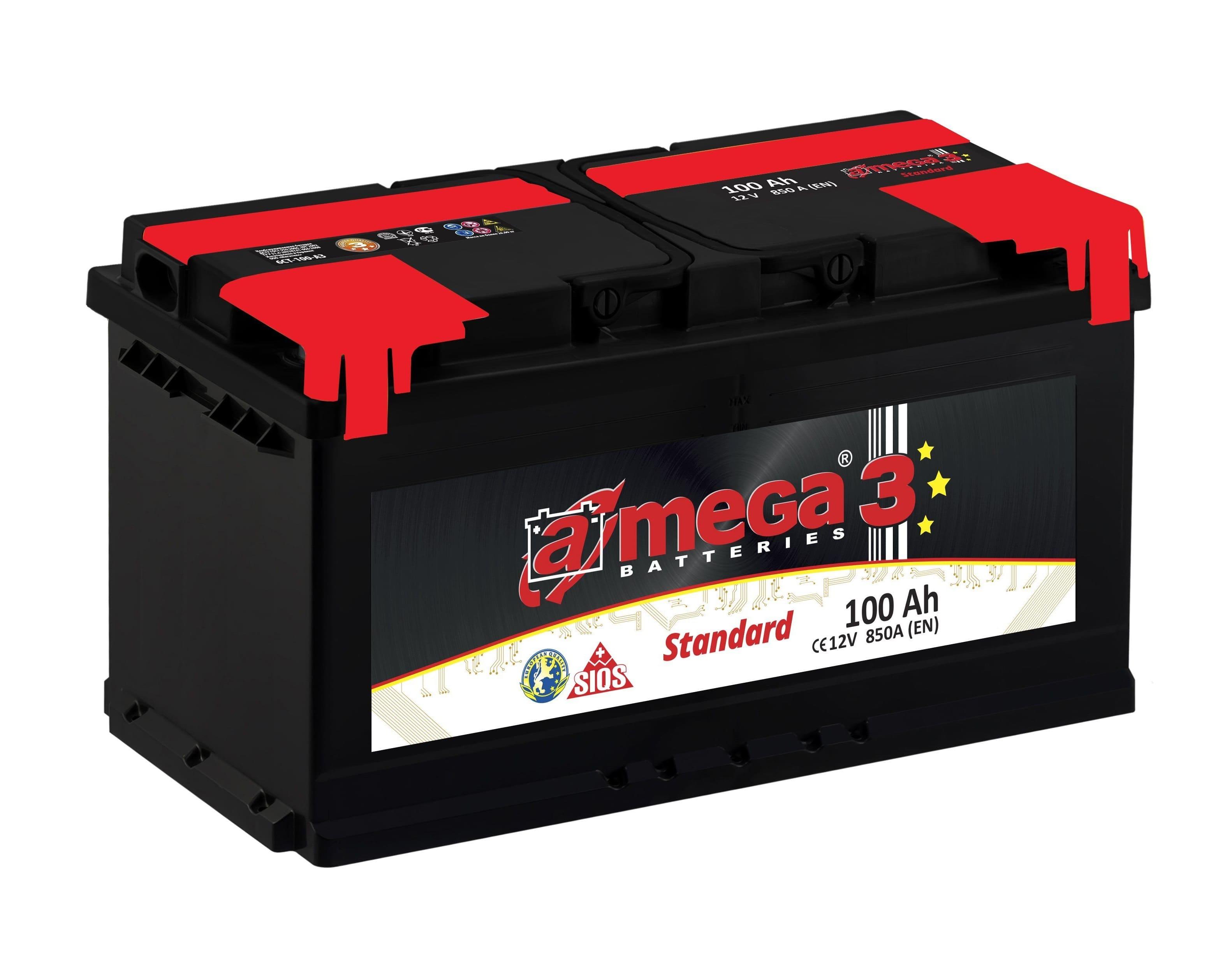 Купить Аккумулятор A-MEGA Standard 100 Ah (0) 850 A