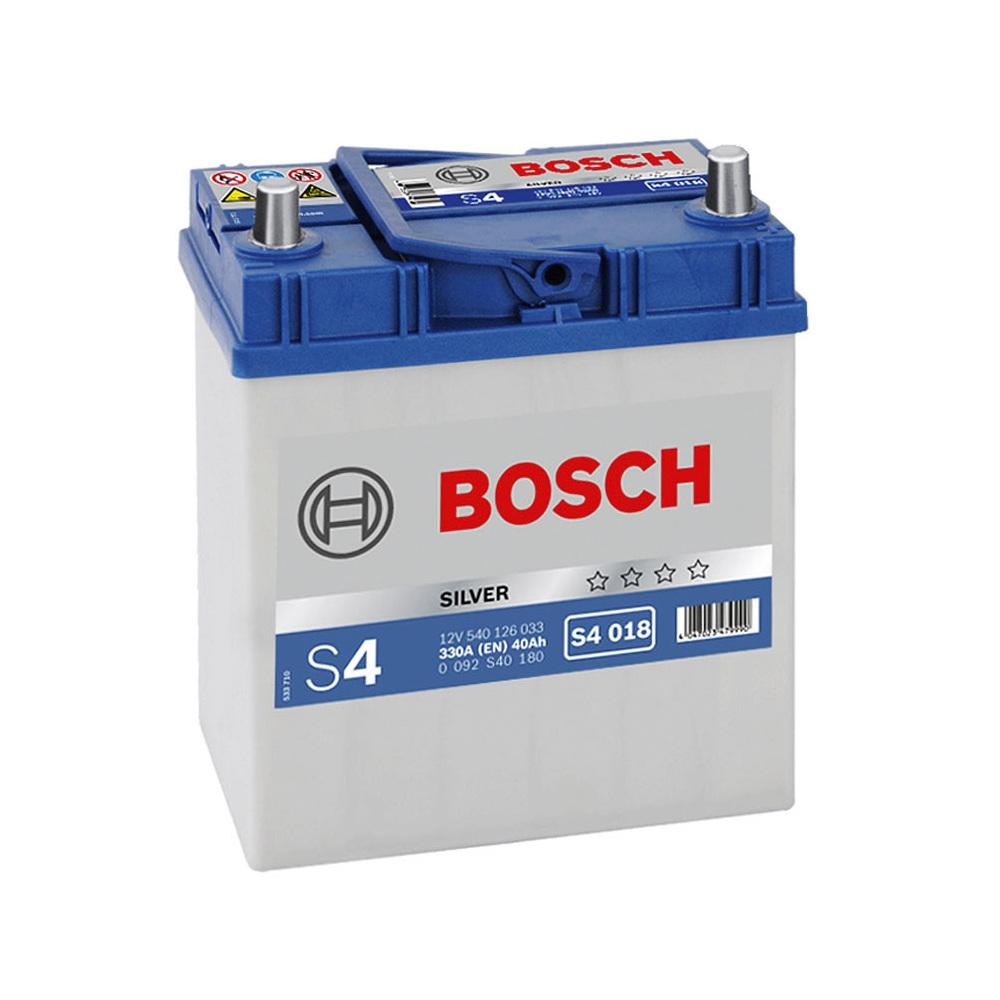 Купить Аккумулятор Bosch 40Ah S4 Silver (1) 330A Asia тонкая клемма