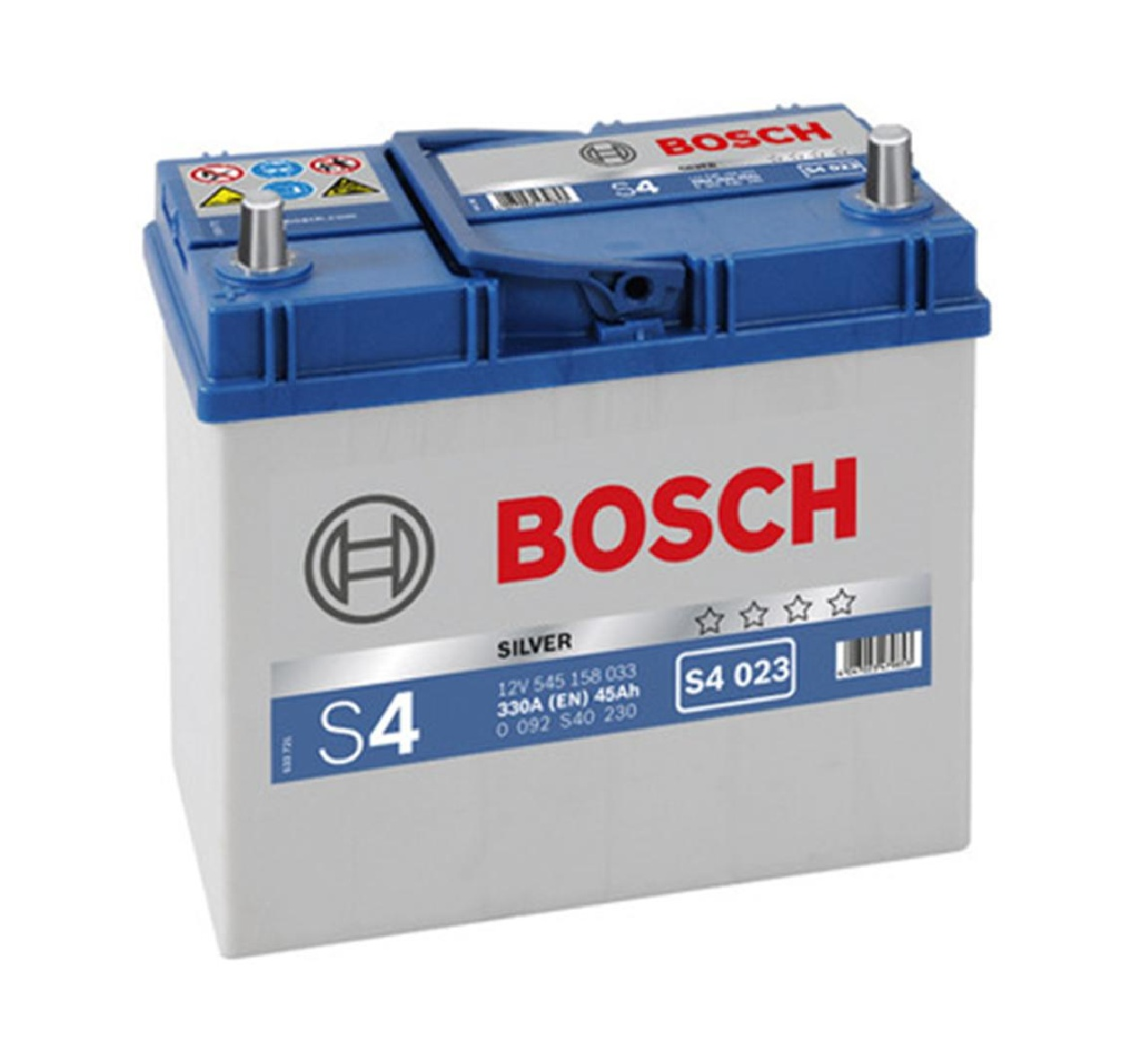 Купить Аккумулятор Bosch 45Ah S4 Silver (1) 330A Asia (S4023)