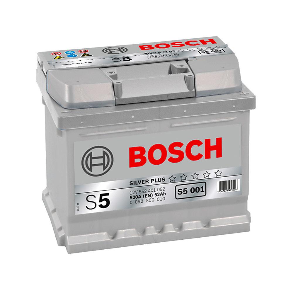 Купить Аккумулятор Bosch 52Ah S5 Silver (0) 520A S5001