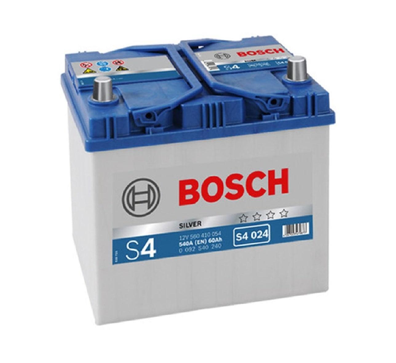 Купить Аккумулятор Bosch 60Ah S4 Silver (0) 540A Asia S4024