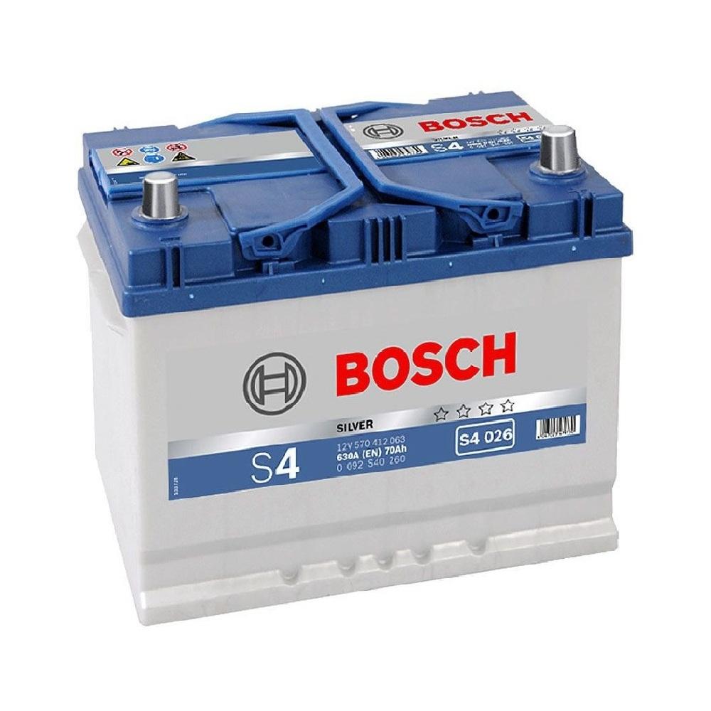 Купить Аккумулятор Bosch 70Ah S4 Silver (0) 630A Asia