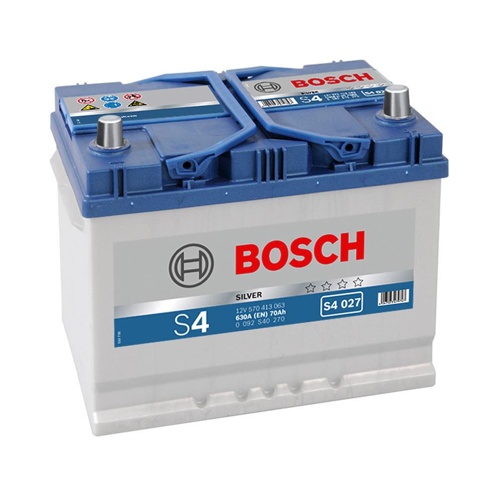 Купить Аккумулятор Bosch 70Ah S4 Silver (1) 630A Asia S4027 левый плюс