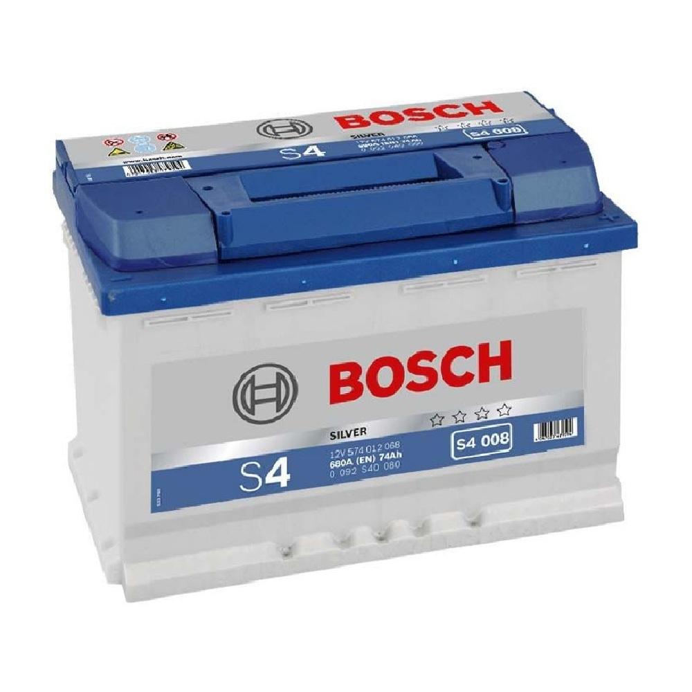 Купить Аккумулятор Bosch 74Ah S4 Silver (0) 680A S4008