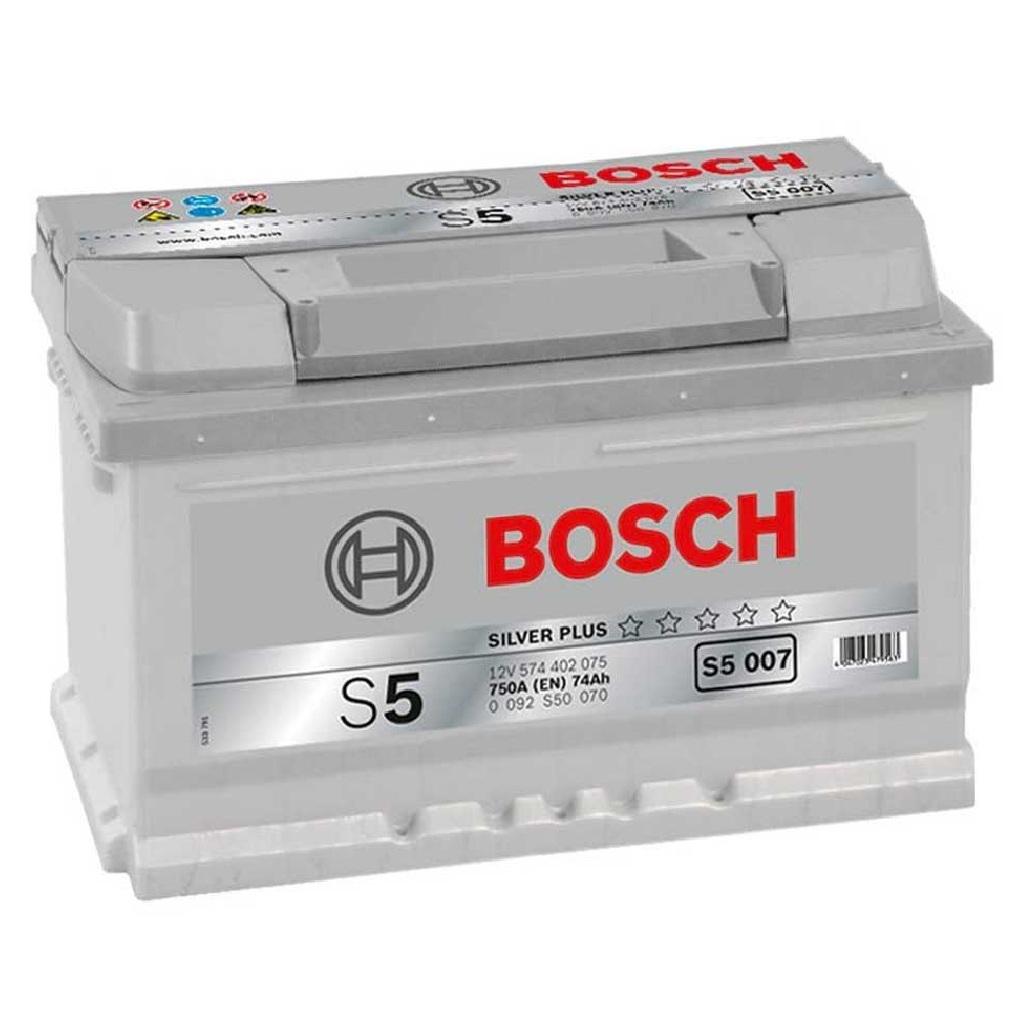 Купить Аккумулятор Bosch 74Ah S5 Silver (0) 750A S5007