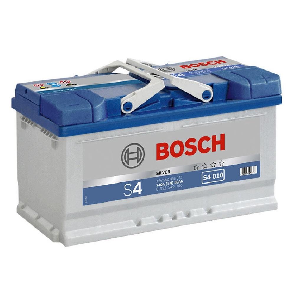 Купить Аккумулятор Bosch 80Ah S4 Silver (0) 740A S4010