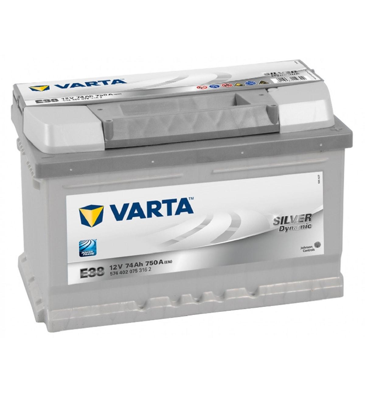 Купить Аккумулятор Varta 74 Ah Silver Dynamic (0) 750A (E38)