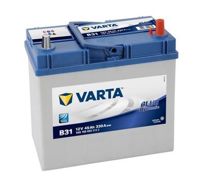 Купить Аккумулятор Varta Blue Dynamic 45Ah (0) Asia 330A (B31) тонкая клемма