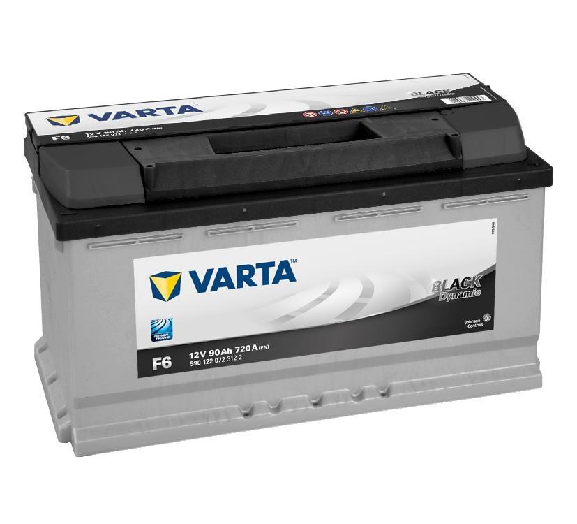 Купить Аккумулятор Varta 90 Ah Black Dynamic (0) 720A (F6)