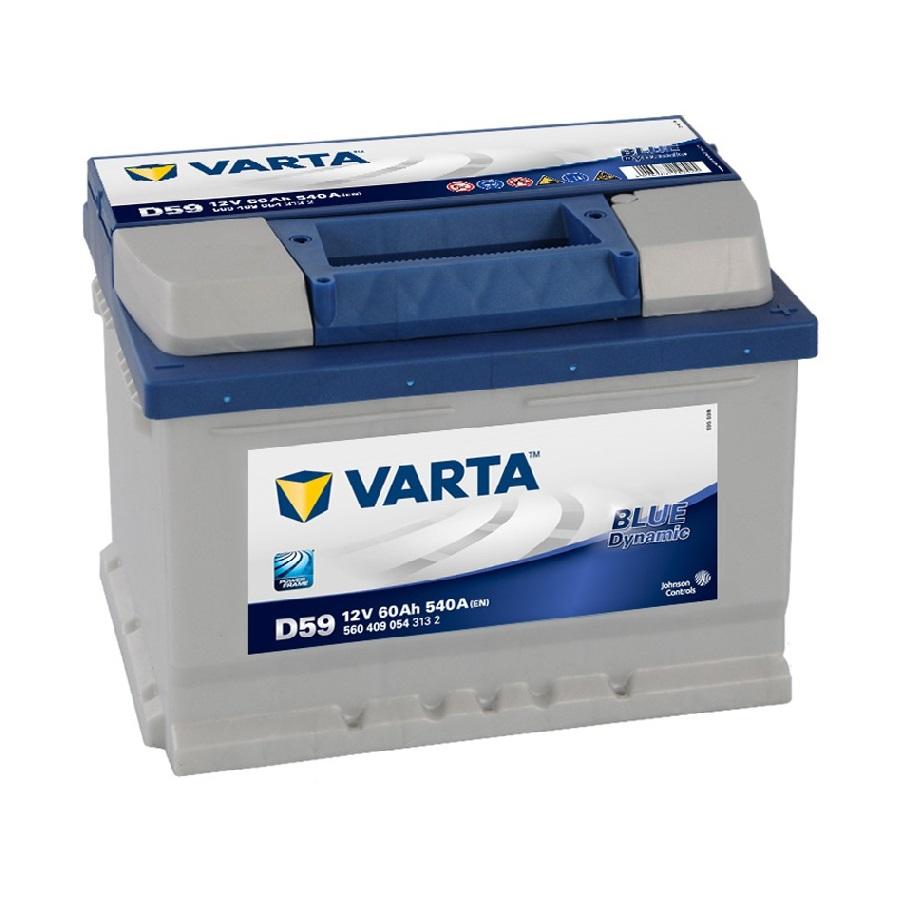 Купить Аккумулятор Varta Blue Dynamic 60 Ah (0) 540A (D59) низкий корпус