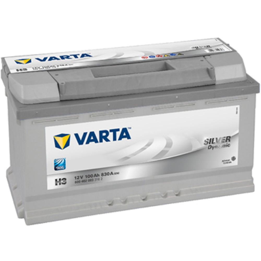Купить Аккумулятор Varta 100Ah Silver Dynamic (0) 830A (H3)