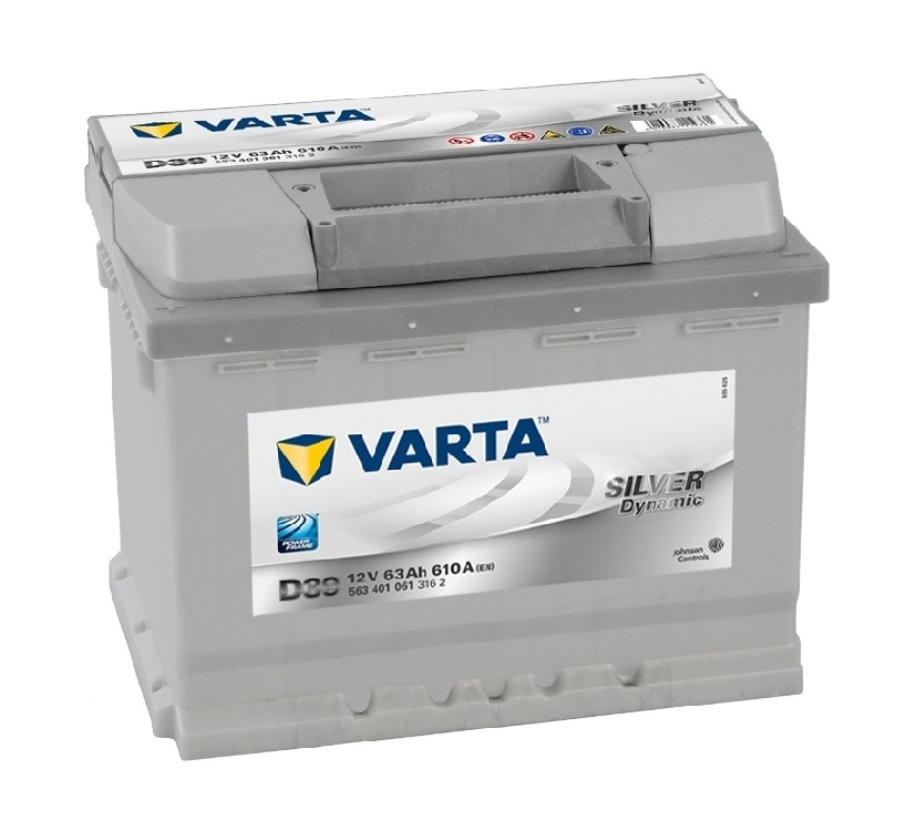 Купить Аккумулятор Varta Silver Dynamic 63Ah (1) 610A (D39)