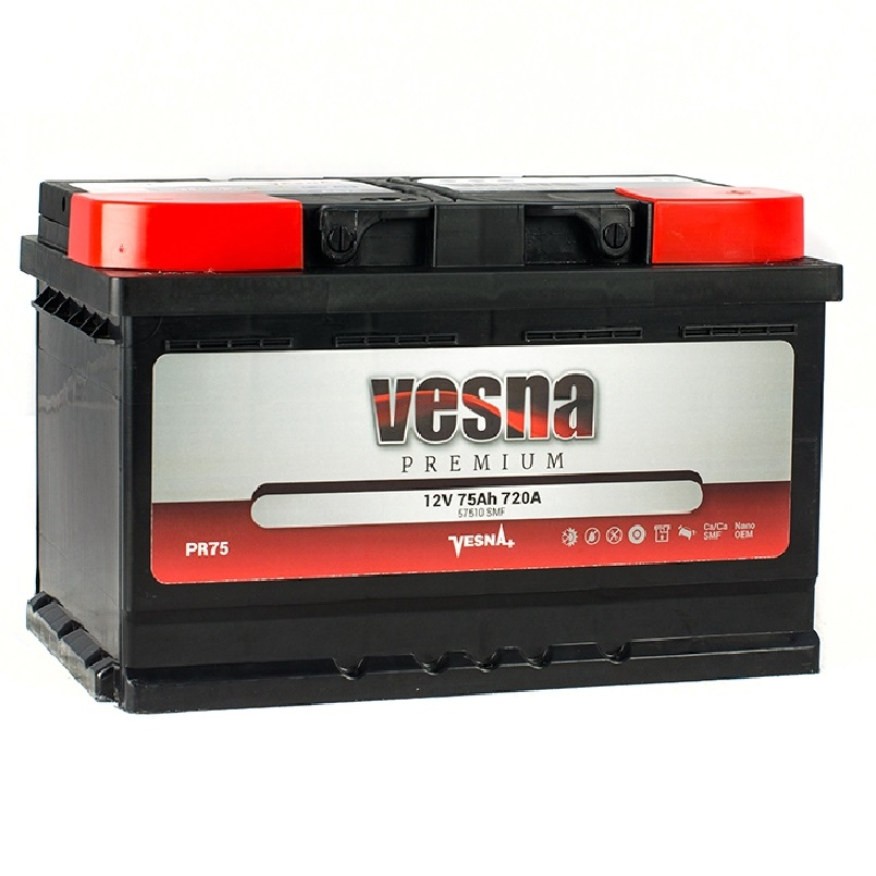 Купить Аккумулятор Vesna Premium 75 Ah (0) 720 A R+