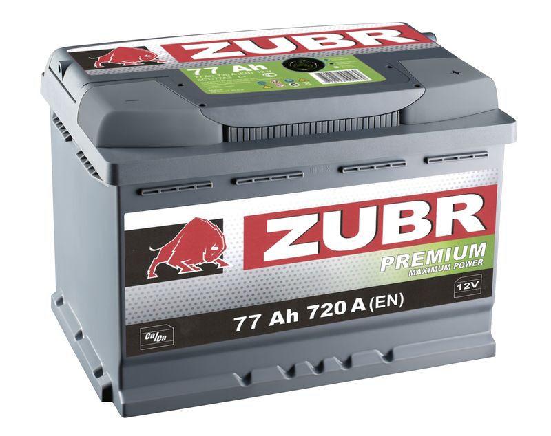 Купить Аккумулятор Zubr Premium 77 Ah (0) 720 A
